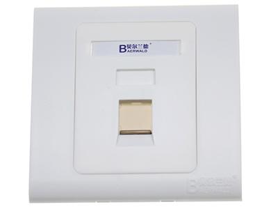 墙上型单孔防尘面板 BLD12