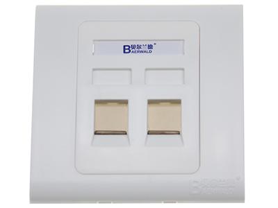 墙上型双孔防尘面板 BLD22