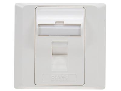 墙上型单孔斜角防尘面板 BLDS31(钻石款)