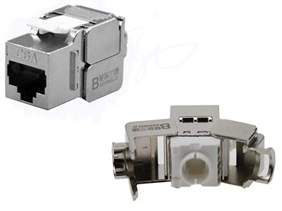 超六类屏蔽信息模块( 180度免工具) BLDSO9-SC6A