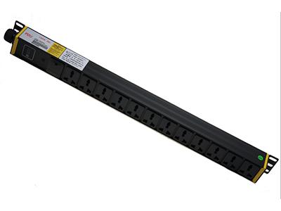 12孔10A万用孔+防雷+1位指示灯+无线接线端子(内置) 32A以下,1u BLD-06-1U- M12- F1S1