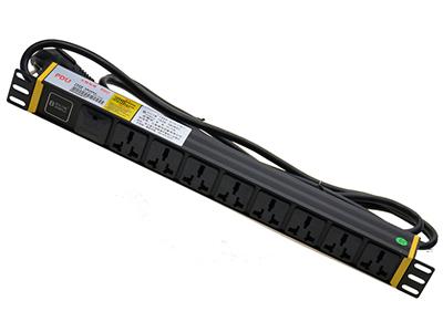 2.5平方3米线16A插头,8孔16A万用孔+开关1U BLD- -O8-1U-N8-F1