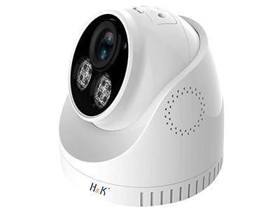 "H&K 瀚康""雙向對講""半球(睿視) 像素:400W  鏡頭:4mm  補光:紅外  內置拾音器、麥克風  方案:睿視  芯片:華為海思  可連接硬盤錄像機:H&K睿視、H&K天視通、海康威視"