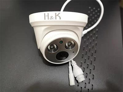 H&K瀚康音頻半球(天視通) 像素:300萬像素(標簽為400萬,方便銷售)  補光:4顆紅外補光燈,紅外50米  內置拾音