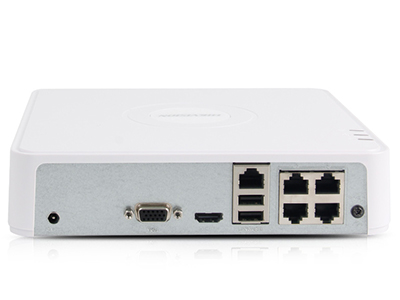 海康威视 DS-7104N-F1-4P 4路POE录像机 同步回放/智能输出/手机远程