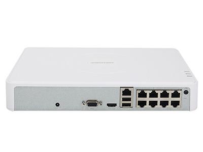 海康威视 DS-7108N-F1-8P 8路POE录像机 同步回放/智能输出/手机远程