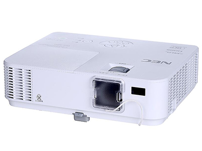 NEC V333X+  投影尺寸:30-300英寸 屏幕比例:16:10 投影技术:DLP 投影机特性:3D 亮度:3300流明 对比度:10000:1 标准分辨率:XGA(1024*768) 色彩数目:10.7亿色