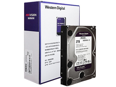 海康威视硬盘 西部数据 WD 监控硬盘 紫盘2TB