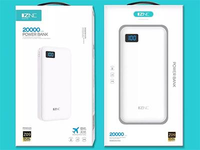 智能冲 Z09 移动电源 足量2万毫安 双入双出 超薄聚合物电芯 带冷光数字显示屏 登机无忧