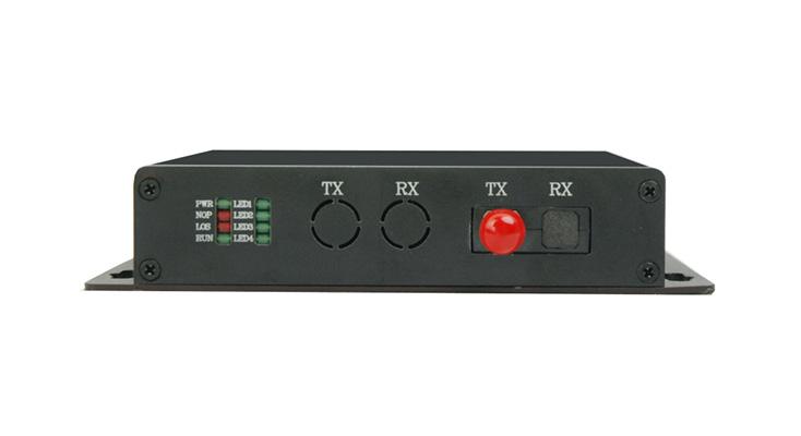 HJ-ICR08F(實現在光纖通道上傳輸1~8路RS232/422/485異步數據