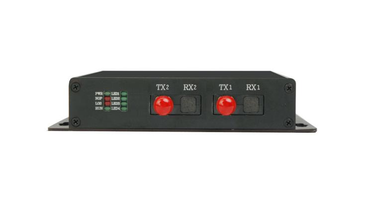 HJ-ICR08DF(實現E1接口與標準RS232/422/485接口之間的物理層轉換,為網絡中不同接口設備之間的通信提供安全、無縫連接。提供1~8路RS232/422/485異步數據接口。支持光纖接口1+1備份)