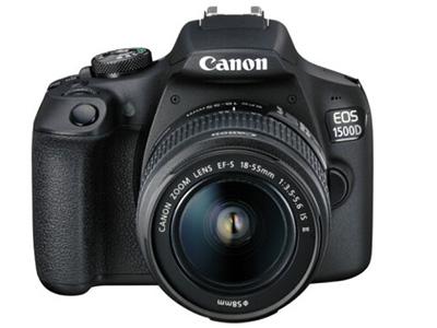 佳能  1500D 18-55 单反相机 用途:人物摄影,风光摄影,高清拍摄,运动摄影,静物摄影,其他画幅:APS-C画幅分类:入门套头:单镜头套机像素:2000-2999万