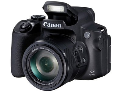 佳能 SX70  数码相机 特点:望远长焦,WIFI连接像素:2001万以上传感器尺寸:1/2.3英寸