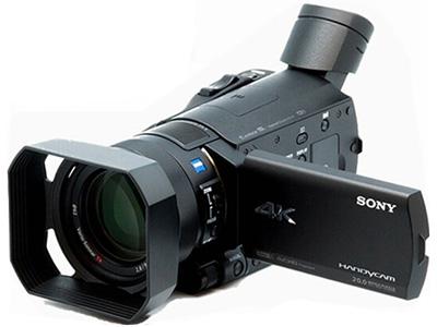 索尼  FDR-AX100E 4K高清数码摄像机 存储介质:闪存式类型:婚庆摄像机,直播摄像机机身容量:其他清晰度:4K功能:取景器像素:601万以上