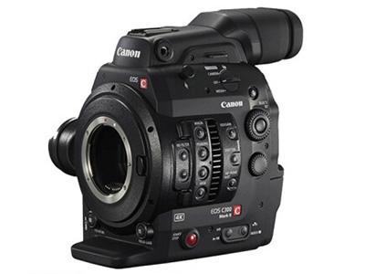 佳能C300 专业摄像机 存储介质:闪存式类型:轻巧便携,高端专业,婚庆摄像机,直播摄像机机身容量:其他清晰度:4K功能:高音质像素:601万以上