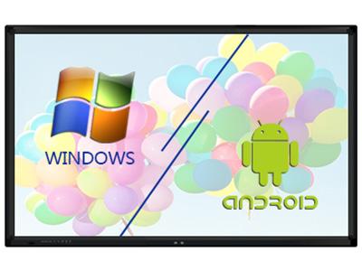 艾博德  觸摸一體機QS系列 42/50/55/65/70/80英寸 1.屏幕尺寸及外觀:55英寸、65英寸、70英寸、75英寸、80英寸、86英寸、90英寸、98英寸。 2.屏幕類型:LED。 3.屏幕顯示比例:16:9。 4.可視角度:178°。 5.圖像模式:16:9/4:3/全屏    亮度450      對比度5000:1。 6.液晶屏顯示分辨率:1920*1080、3840*2160。 7.4K極清:支持,選配項 8.視頻制式:PAL、NTSC、SECAM。 9.安卓系統:5.0。 10.WiFi模塊:5G。 11.安卓系統主頻:1.4G