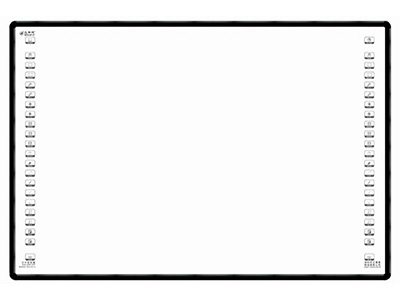 艾博德  紅外電子白板IB-RS系列 78/82/85/88/89/102英寸 1.紅外感應技術,無需專用筆:支持手、筆及教鞭等一切非透明物體直接在上面進行板書書寫。 2.白板尺寸88英寸,最大分辨率:32768*32768,采用4點精準定位,每次開機無需重新定位。 3.高分子納米板:防眩目、防反光、任何角度無亮斑;可用水性筆書寫,反復擦除無殘留;可以磁性吸附,便于教學;表面硬度高、耐刮傷、不脫漆,即使表面刮傷、穿孔也不影響正常使用。面板材料:面板采用冷軋鋼板,表面噴涂專業高分子納米材料。板芯材料:采用高密度、高強度、輕質、環保聚酯材料。背板材料:采用鍍鋅鋼板。