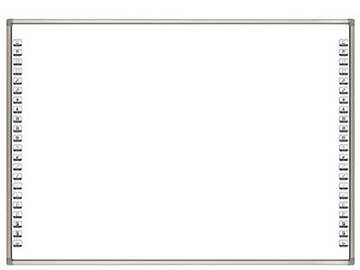 艾博德 紅外電子白板IB-T系列 80/82/89/90/102/142英寸 超個性流線型邊框設計,窄邊拉絲邊框處理讓整個白板輪廓更加清晰; 采用專用的面板材料,不僅投影時,色彩柔和、可視角度大,無亮斑;