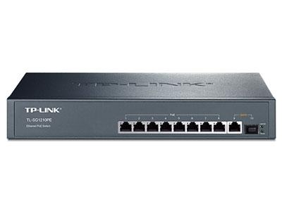 TP-LINK TL-SG1210PE 8口千兆POE交换机(1千兆口+1千兆光纤口)
