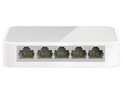 TP-LINK 5口百兆交换机 4口监控网络网线分线器 家用宿舍分流器 TL-SF1005+