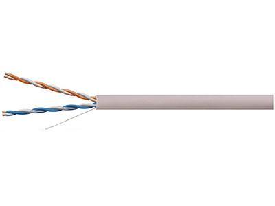 一舟  U/UTP CAT3 三类2对非屏蔽电缆 ●小的外径,安装时不易扭绞和卡住 ●电线表面采用喷墨印字,并印有计米长度,印字清晰,计米准确 ●提供线缆长度标记,减少浪费 ●支持语音、数据信号传输
