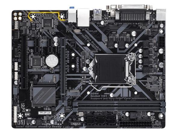 技嘉主板/B365M-D3V(VGA+DVI+PCI+COM)