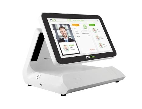 郑州中控智慧ZTHP500人脸识别消费机双彩屏显示,后台充值,可云端部署,实现互联网集中管理