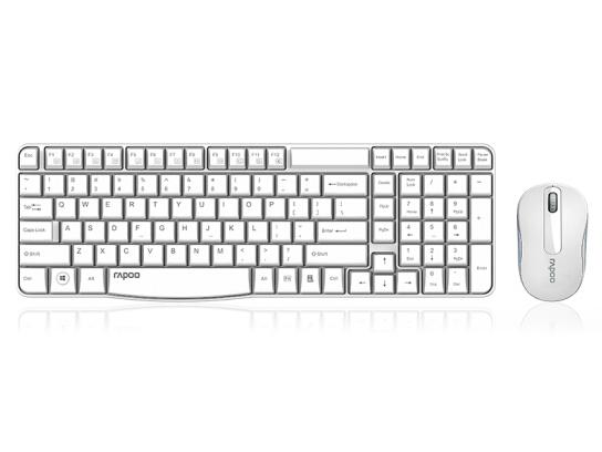 雷柏键鼠套装/X1800S无线(白)WHITE