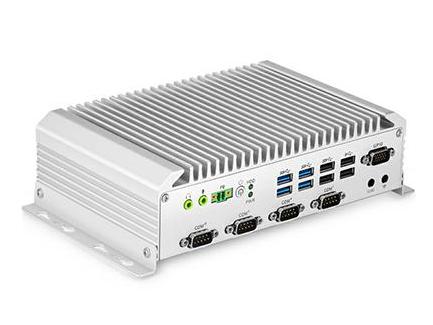 汇联 HNGK-6123 嵌入式工控机 英特尔低功耗处理器 DDR3内存 无风扇设计 DVI+VGA显示 集成显卡