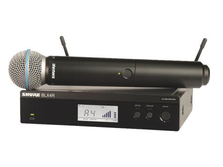 舒爾 SHURE BLX 系列BLX24R/BETA58 具備QuickScan頻率選擇功能,并配備精密制作的Beta 58A動圈人聲話筒