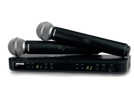 舒爾 HURE BLX 系列BLX288/BETA58A 具備雙無線通道和QuickScan頻率選擇功能,并配備精密制作的Beta 58A動圈人聲話筒,修正的頻率響應突出了人聲