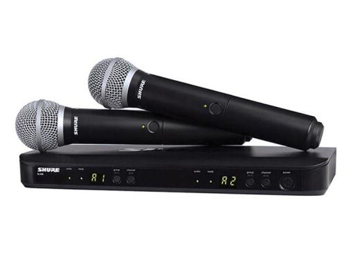 舒爾 SHURE BLX 系列BLX288/SM58 具備雙無線通道和QuickScan頻率選擇功能,并配備行業標準SM58®人聲話筒振膜,實現飽滿清晰的人聲再現
