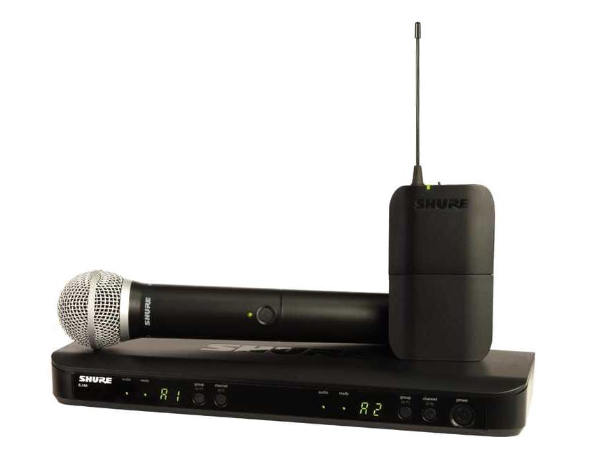 舒爾 SHURE BLX系列 BLX1288/PG30 具有雙無線通道和QuickScan頻率選擇功能,配備耐用型PG30頭戴式話筒,適用于現場演出應用