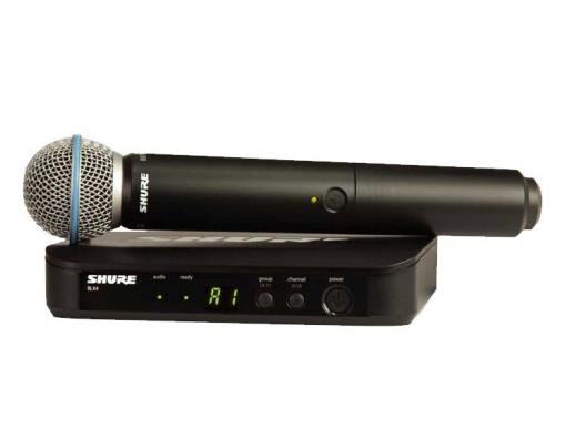 舒爾 SHURE BLX 系列 BLX24/PG58 具備QuickScan頻率選擇功能,配備值得信賴的PG58專業品質人聲話筒振膜,適用于領唱和伴唱演出應用