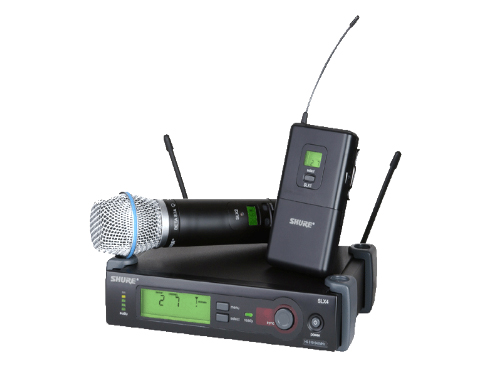 舒爾 SHURE SLX無線系統  支持 20 個使用各種超高頻頻帶的兼容系統
