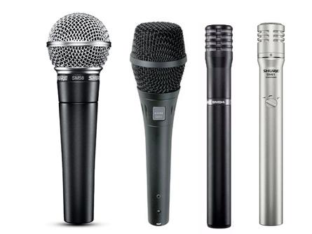 舒爾 SM系列有線話筒 符合普通舞臺和錄音室的嚴要求,可滿足各種音頻應用場合