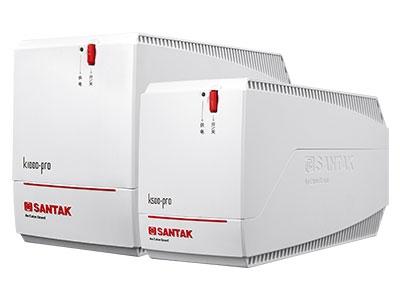 山特  K500/K1000 PRO  后备式UPS 山特K500/K1000 PRO (2014)是针对中国市场电力环境优化设计的自动稳压型UPS,通过先进MCU控制及可靠功率设计,有效的解决5种电力问题(市电断电、电压下陷、浪涌、欠压、过压),同时进一步提高了产品的适应性和可靠性,为用户设备以及UPS本身 提供万无一失的保障。