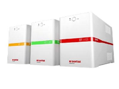 山特  ET1100/550  后备式UPS 山特ET1100/550 UPS是针对中国电力环境设计的自动稳压型智能UPS,内置先进的MCU控制单元,有效的解决5 种电力问题:市电断电、电压下陷、浪涌、欠压、过压。功能强大,美观时尚,是电脑、POS机、收银台、ATM、路由器、闸机等设备的有力保护。 注:ET 1100/550 UPS主要通过电商平台销售,购买请访问天猫和京东的授权旗舰店、专卖店。