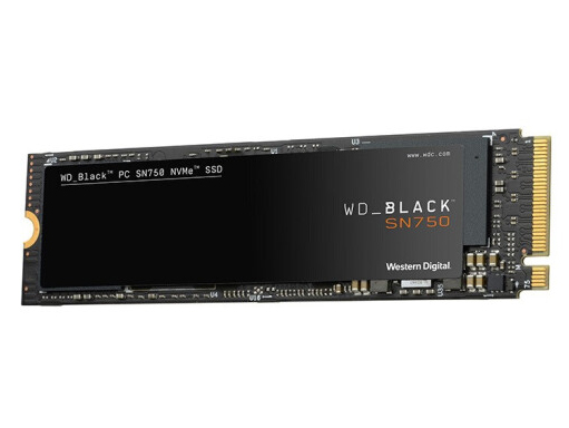 西数 WD黑盘 SN750 M.2接口 NVMe协议 PCLe*4 250G 500G 1T