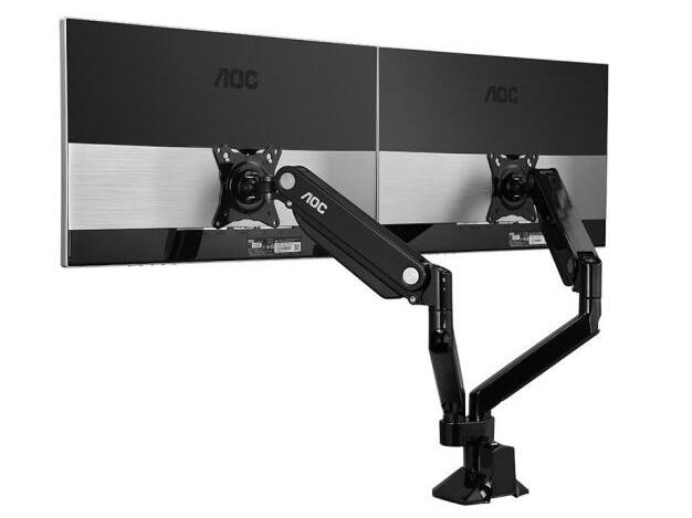 AOC 双臂 显示器支架 黑