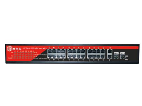 帝杰安  DF-2422GB 24口1U机架千兆标准POE交换机