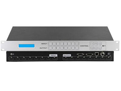 """Meijes   8进8出HDMI矩阵HD88 """"支持8路HDMI输入,8路HDMI信号输出,1U 支持HDMI1.4,HDCP1.4,支持4K30Hz分辨率 输入接口可读外部EDID 支持前面板按键两键式切换,支持RS232/RJ45网口/遥控控制 1080P分辨率通过HDMI线缆可传输15M               产品特性 1. HDMI V1.4 支持: 4K x 2K@30Hz,1080P@120Hz,and 1080P 3D@60Hz 2. Deep Color 支持48/36/30/24-bit 3. 支持LPCM 7"""