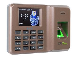中控 指纹识别考勤终端X10 用2.4寸高清彩屏,超薄、简约的结构设计,突显时尚美观的造型,整机采用的倾角设计