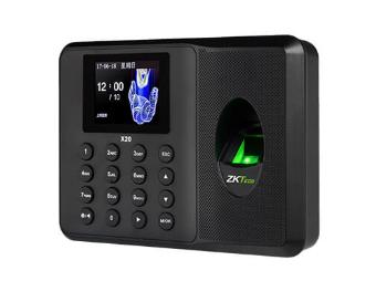中控 指纹识别考勤终端X20 采用2.4寸高清彩屏,超薄、简约的结构设计,突显时尚美观的造型,整机采用的倾角设计