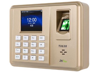 中控  指纹识别考勤终端TX638 2.8寸高清彩屏 用户数30000人 指纹容量3200枚 记录容量100000条