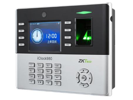 中控 指纹识别考勤终端iClock980 3.5寸高清TFT彩屏 用户数30000人 指纹容量8000张 记录容量20万条