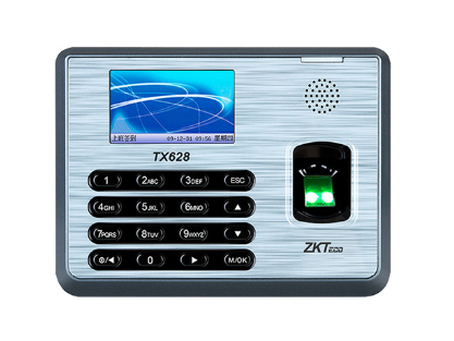 中控 指纹识别考勤终端TX628 2.8寸高清彩屏 用户数30000人指纹容量3200枚记录容量12万条