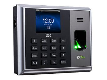 中控 指纹识别考勤终端S30 2.8寸高清彩屏 用户数30000人记录容量120000条