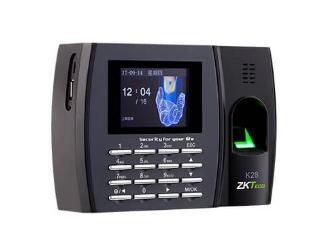中控 指纹识别考勤终端K28 2.8寸高清彩屏 用户数1000人 指纹容量1000枚 记录容量50000条