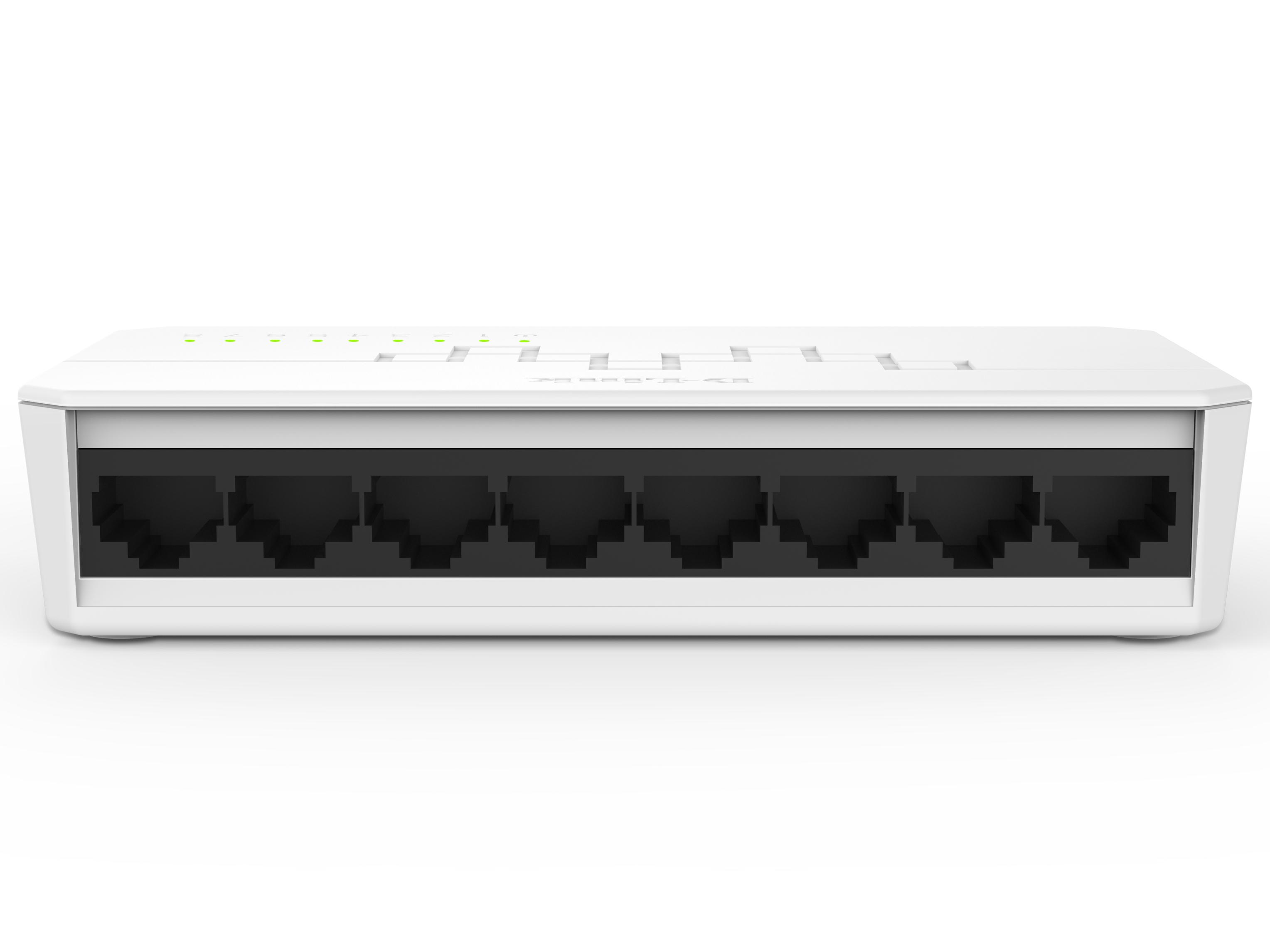 D-LINK DES-1008C-CN 8口百兆非网管交换机 8个百兆电口,塑壳桌面型,非网管交换机